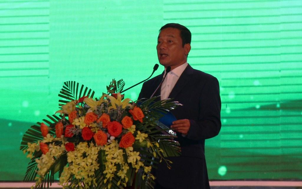 Phó Chủ tịch UBND tỉnh Đắk Lắk Y Giang Gry Niê Knơng phát biểu tại buổi lễ
