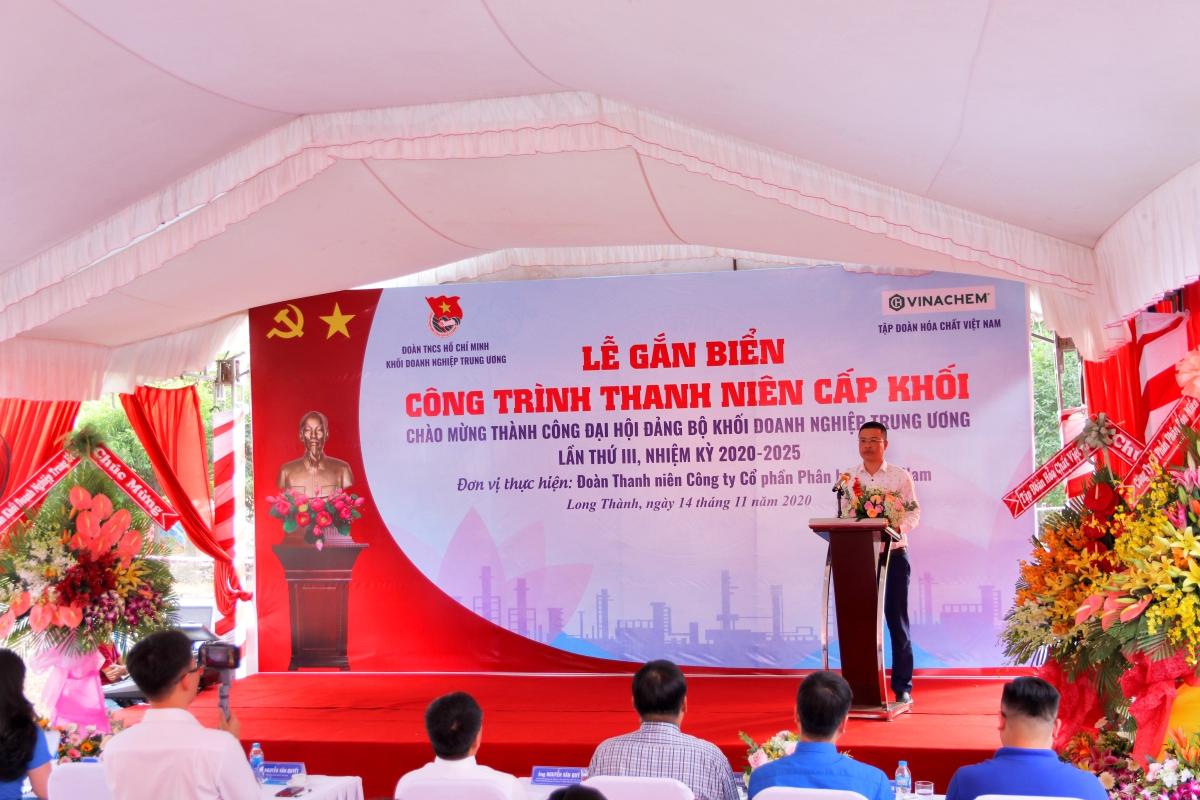 đồng chí Nguyễn Văn Quyết phát biểu tại buổi lễ