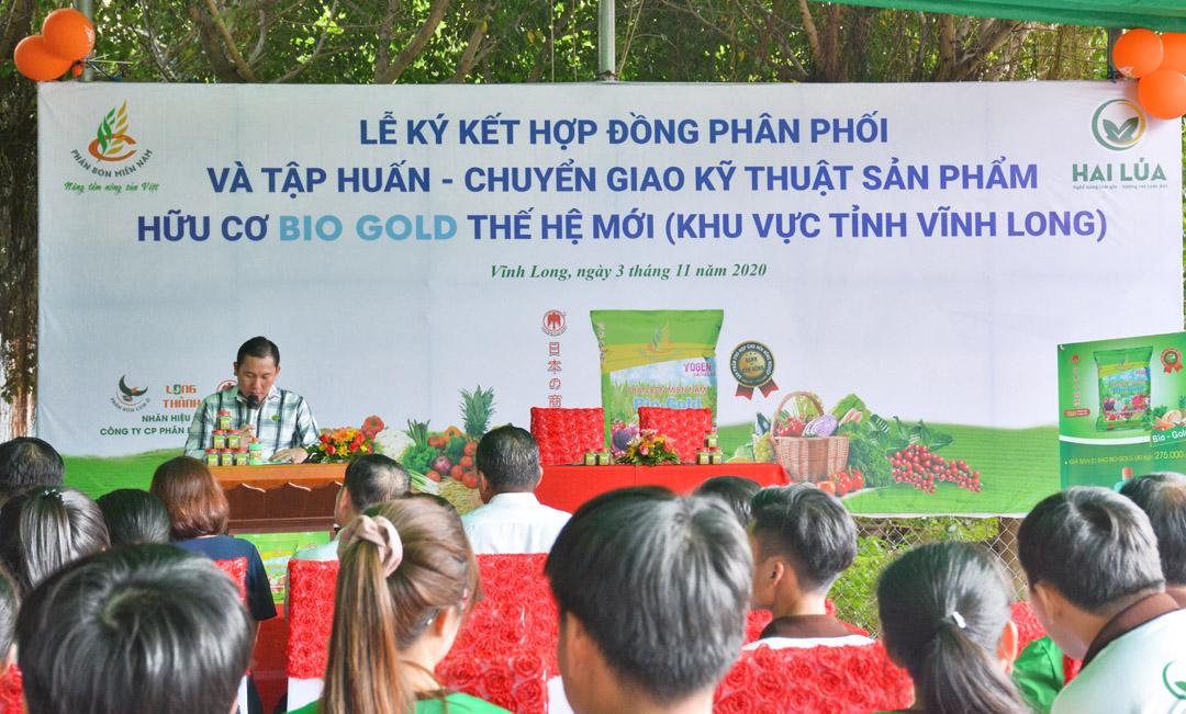 Ông Đoàn Thanh Phong phát biểu trước buổi lễ ký kết