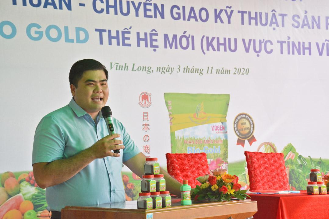 Ông Nguyễn Minh Mẫn Phát đại điện Công ty TNHH SX TM PL Long Phú phát biểu tại buổi lễ